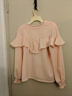Pink/peach cotton blouse