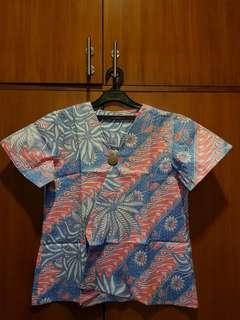 Outer Batik Biru Muda