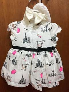 Pre-loved Baby Girl's dress with matching headband and underwear