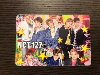 NCT127 夜光Yescard