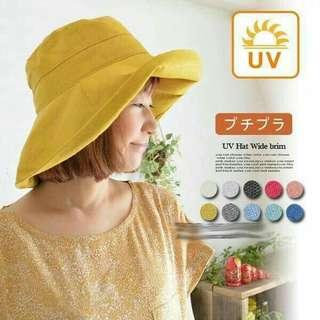 🚚 日本防曬小臉遮陽帽(藏青色)