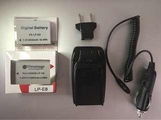 LP-E8 Batteries + Charger