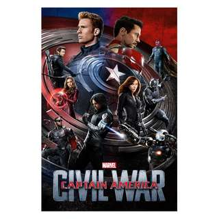 Captain america civil war movie posters full sized alternate