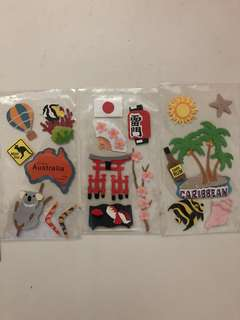 Travel related stickers