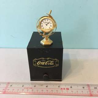 罕見 可口可樂 博物館 地球儀 銅鐘 Las Vegas Coca Cola Brass Clock