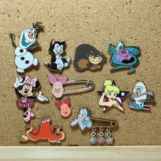 Disney pins (Paris,Shanghai,Hk)