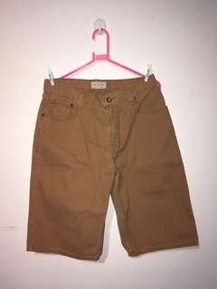 Denim brown shorts