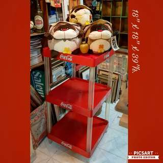 Vintage Red and White Coca Cola Multi-tier Shelves. Heavy Duty and Long-lasting  as it was for Drink Bottles. Refer to photo for size. Good condition. $25 clearance offer!