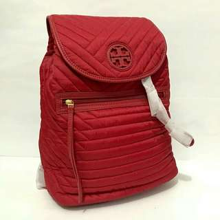 TB quilted nylon backpack kir royale sz 22/26×35