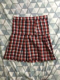 Checkered red skirt 27-27