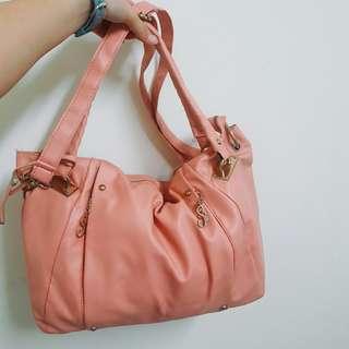 🚚 PG 粉色大容量手提包 側背包