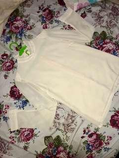 Ruffle neck blouse LS