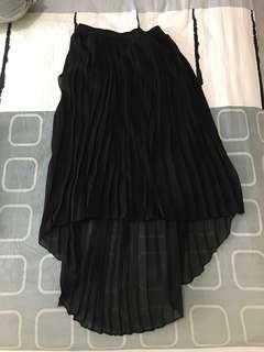 Black Pleated Skirt from Korea
