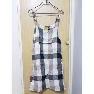 二-日系品牌ZOE 棉麻吊帶裙(附品牌袋子)