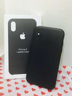 Iphone X Leather case black
