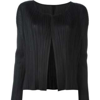 Pleats Please V-neck Cardigan By Issey Miyake