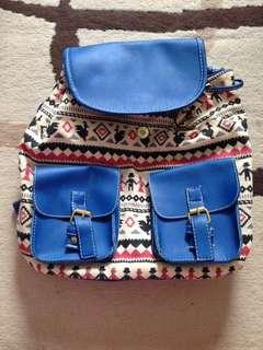 Bagpack Zig Zag Blue