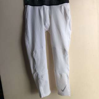 Nike Pro Combat Compression Tights in White