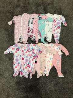 Newborn girl onesies / rompers - brand new