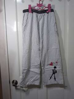 WHITE AND BLACK POLKA DOTS PAJAMA