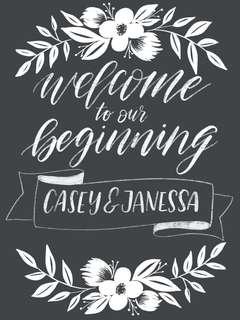 CALLIGRAPHY WEDDING SIGNAGE / welcome signage / wedding sign (customised) - soft copy only