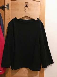 #uniqlo短板黑色上衣