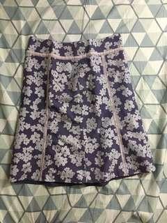 Floral purple skirt medium