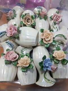 Mini Porcelain Vase Approx 5cm
