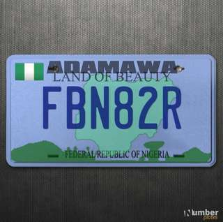 FBN82R Motorcycle number plate for sale