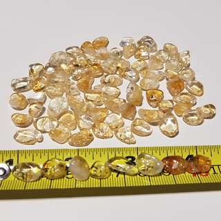 Citrine Chips/Nuggets with a small hole for stringing