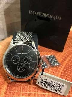 Armani Swiss made stainless steel watch 鋼帶名錶
