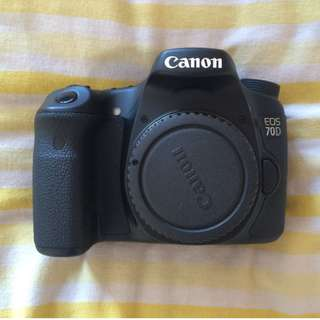 COMBO OFFER!!!Canon EOS 70D 20.2 MP DSLR Camera( Body only)+Canon 40mm lens