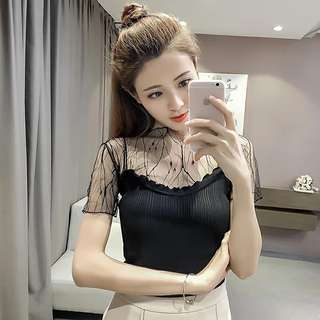Woman 2pc lace with spag blouse