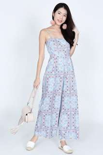 MDS Tile Print Jumpsuit
