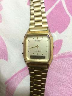 Jam tangan casio gold