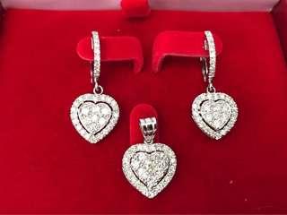 💯 Real Diamonds - Happy Hearts Diamond Set