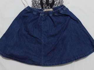 Bershka Demin Skirt