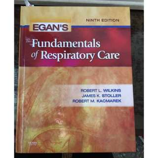 🚚 Egan's fundamentals of respiratory care ,9th edition