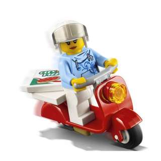 Lego 60150 Pizza Van - Customer Female Minifigure with Red Scooter