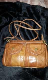Mini Brown Leather Cross Body Bag