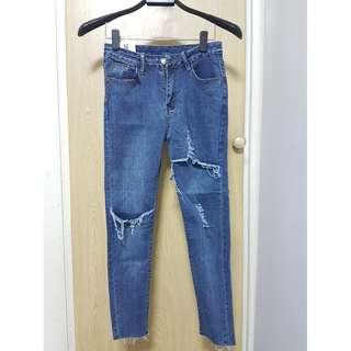 新-泰國曼谷帶回 修身破口牛仔褲