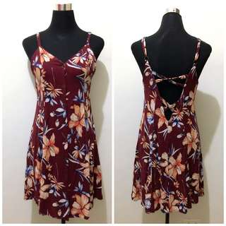 F21 Buttons up Floral Dress
