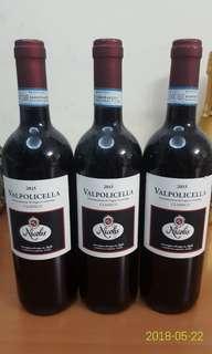 Nicolis Valpolicella Classico 2015 共3支