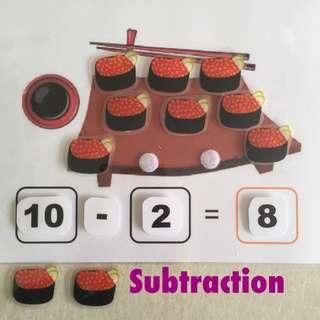 DIY Subtraction/Addition - Sushi 🍣