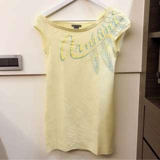 🚚 Armani Exchange 斜肩長版造型T恤 上衣