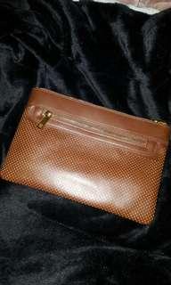 Chocolate Brown Leather Cross Body bag