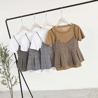 Summer Pleated Cami With T-Shirt