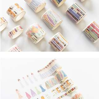 🌺🖃 📝 [PREORDER , Postage included] Leave Themed Diary Decoration Tape Stickers