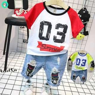 Fashion Korea style baby boy cloth set