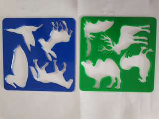Set of 5 Animal stencils - cheap- new